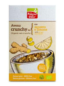 Croquant à l'avoine, au gingembre et au citron, biologique et sans gluten